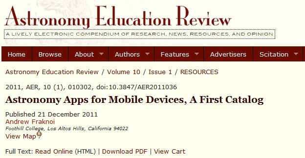 Handig, zo'n catalogus met apps over sterrenkunde
